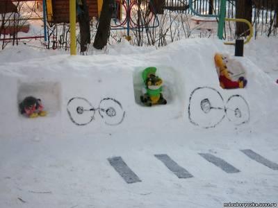 Картинка зима своими руками